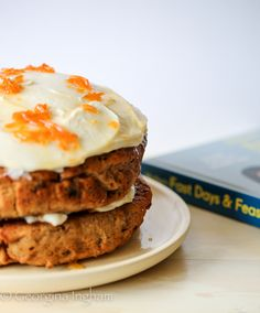 Elly Pear's Best Ever Carrot Cake. Sticky, moist cake sandwiched with Iranian Carrot Jam and slathered with Mascarpone Icing. Perfect for the Feast Days.