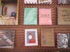 Pencil pegboard - bookshelf/library display