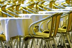 Photograph Bright Sunny Yellow Chairs  by HenaTayebPhotography, $25.00