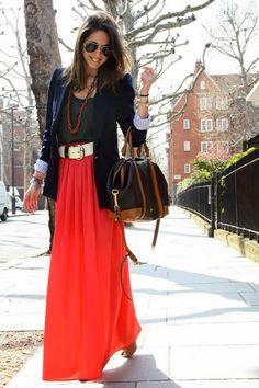 CD1CE: Como vestir faldas largas y/o pantalones bombachos para la oficina