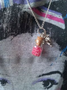 Fairy Wish Bottle With Cherry Red Seed Beads by MysticMoonShadows, £6.00