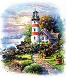 Art~ The Lighthouse Keeper's Cottage, I Could Move In There Today! ~ Andres Orpinas