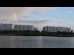 Rainbow over Moscow City.