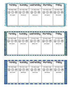 Simple Weekly Behavior Charts and Parent Communication | school ...