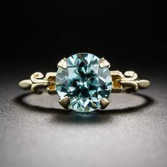 Vintage Blue Zircon Ring - 30-1-5679 - Lang Antiques