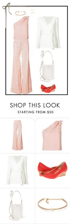"""Untitled #7550"" by msdanasue ❤ liked on Polyvore featuring Rosie Assoulin, Ryan Roche, Cole Haan, Miu Miu, Kenneth Jay Lane and PERLOTA"