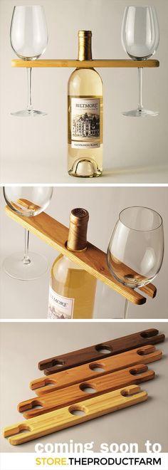 Porta taças e vinho