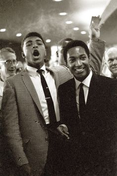 Sam Cooke and Cassius Clay (Muhammad Ali), 1964