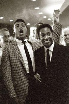 Sam Cooke and Cassius Clay (Muhammad Ali), 1964