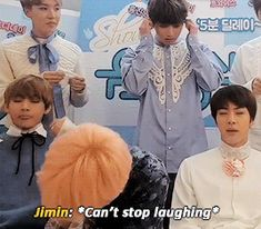 That's so cute Jungkook starts laughing when Jimin is and turns around and makes eye contact