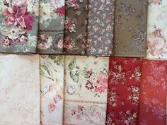 $29.99 Quilt Gate Shabby Mary Rose 11 Fat Quarters FQ's Grey gray Pink Fabric   #MaryRose