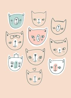 I think I might have to start making cat illustrations to go with my owl illustrations......