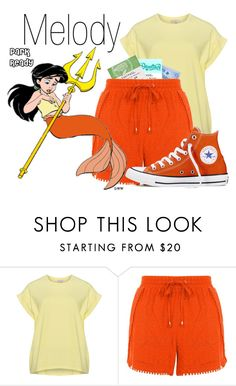 """""""Melody~ DisneyBound"""" by basic-disney ❤ liked on Polyvore featuring Disney, New Look and Converse"""