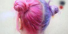 Splithair roze en paars. #splithair
