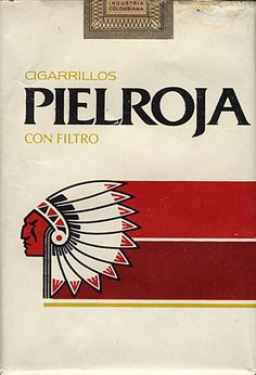 <b>PIELROJA Cigarillos Con Filtro</b><br><br><i>Sold in</i> Colombia <br><i>Made in</i> Colombia in ? year <br><i>Producer</i>: Coltabaco, Ind. Col.<br><i>Trade Mark Owner</i>: Coltabaco, Ind. Col.<br><i>Size height/width/depth (mm)</i>: 78/54/22<br><i>Open type</i>: h<br><i>Count of cigarettes in pack</i>: 20<br><i>Condition</i>: 3D-form<br><b>DOUBLES AVALIABLE</b>: NO
