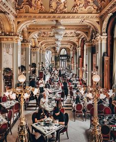 Must-Visit: New York Cafe, tucked inside the Boscolo Hotel, has been called the most beautiful cafe in the world. It's like the inside of a palace or a really fancy theatre European Cafe, European Travel, New York Hotels, Paris Hotels, Dream Vacation Spots, Dream Vacations, New York Cafe Budapest, Century Hotel, Buda Castle