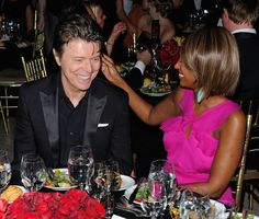 """""""My marriage is exactly as fabulous as you all would think,"""" Iman said of her union with David Bowie on The Nate Berkus Show in 2010."""