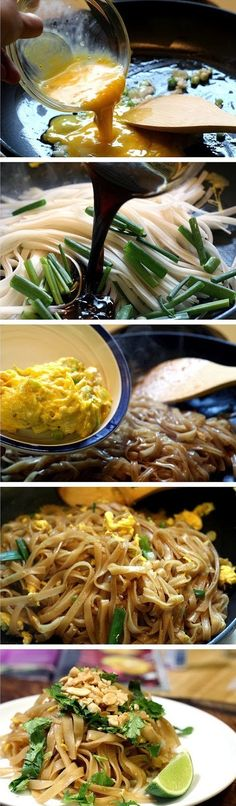 Easy Pad Thai Recipe Ingredients 8 ounces dried, wide and flat rice noodles 2 tablespoons brown sugar 2 tablespoons fresh lime juice, plus wedges for serving 3 tablespoons soy sauce 1 squirt…