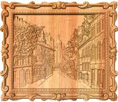 Old street - Wood Carving