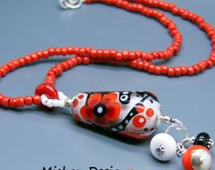 Michou Pascale Anderson Fleur Rouge Necklace by MichouJewelry