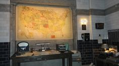 Men of Letters Lighted Map of United States on Wall ||| Supernatural