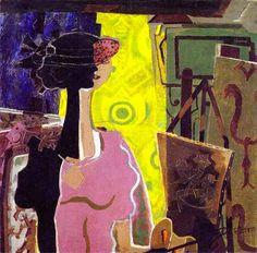Femme au chevalet. 1936. Georges Braque