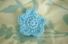 "Alli Crafts: Free Crochet Pattern: Rounded Five-Petal 3"" Flower Applique"