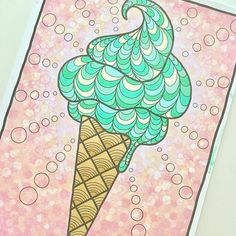 """Mental Images Coloring Books (@paivivesala_art) on Instagram: """"What is my favourite ice cream? First one who guess it right will get a little surprise post  ...…"""""""