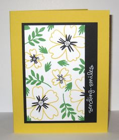 handmade card from Snapdragon Stamps ... Love and Affection flowers ... like the layout design ... Stampin' Up!