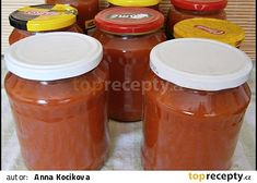 Rajčatová šťáva recept - TopRecepty.cz Tomato Sauce Recipe, Sauce Recipes, Cantaloupe, Salsa, Smoothie, Jar, Fruit, Food, Homesteading