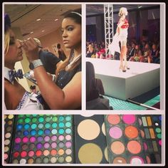 Working Tampa Bay Fashion Week! I always love fashion show hair & makeup! @LizEverettGlam