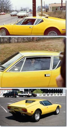 Elvis driving his 1971 De Tomaso Pantera He purchased in 1974