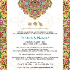 17 Beautiful Hindu Wedding Card Invitation Gallery - Within the earlier days when marriage invitation cards were thought of a novelty, established Wedding Card Wordings, Hindu Wedding Cards, Vintage Wedding Cards, Indian Wedding Invitation Wording, Indian Wedding Invitations, Vintage Wedding Invitations, Customized Invitations, Wedding Stationery, Indian Reception