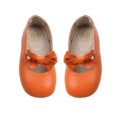 sweet orange shoes for those little feet in the fall season