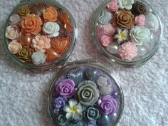 Vintage Hand decorated Compact Mirrors by Tinascraftsforyou, Compact Mirror, Mirrors, Unique Jewelry, Handmade Gifts, Stuff To Buy, Etsy, Vintage, Food, Decor