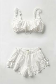white, feminine, vintage style lingerie
