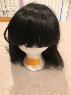 Long Black Wig with Bangs  Hair Style Costume Cosplay Trendy Acting Fashion    eBay