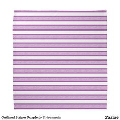 Outlined Stripes Purple Bandana