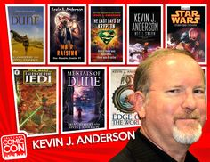 Help welcome our next Salt Lake Comic Con 2014 guest... author Kevin J. Anderson! Kevin coauthored 13 Dune novels with co-author Brian Herbert, as well as their original Hellhole trilogy. Kevin followed his epic Saga of the Seven Suns series with his Terra Incognita fantasy trilogy, and wrote the novel Clockwork Angels based on the new RUSH album. CLICK to learn more about Kevin.
