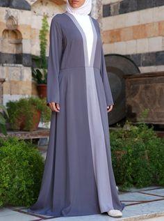 Tri-Color Abaya
