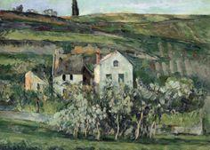 Les Petites maisons à Pontoise, près d'Auvers-sur-Oise - Paul Cézanne, 1874 French, 1839-1906 Oil on canvas, 40.7 x 50.9 cm (16 x 20 1/16 in.)