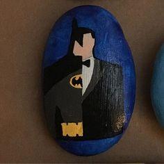 #paintedstones #paintedrocks #handpainted #batman #batmanrock