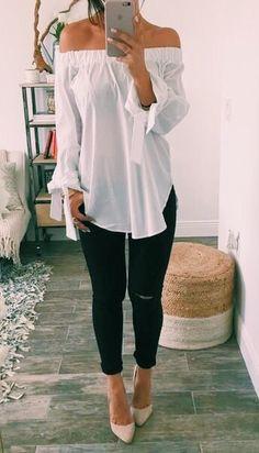 off the shoulder + pants
