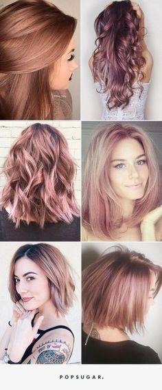 **Top Left** Rose Gold Sera la Couleur de Cheveux la Plus Cool de l'Année- this colour is beautiful!