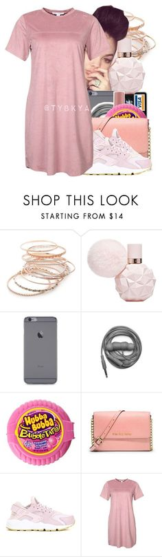 """"""""""" by tybkya ❤ liked on Polyvore featuring Red Camel, Urbanears, Victoria's Secret, MICHAEL Michael Kors, NIKE and NLY Trend"""
