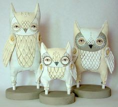 A Polar Bear's Tale: Folk art owl dolls...