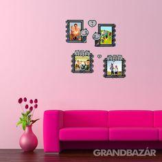 Strasszköves, macska képkeret falmatrica (604) Home Decor, Decoration Home, Room Decor, Interior Decorating