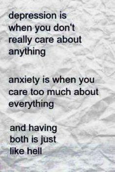 Depression vs anxiety