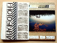 """page 14+15 """"photography"""" - Moments to live for: Sketchbook Project"""
