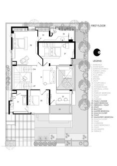 Courtyard House Plans, Courtyard Design, Architectural Floor Plans, Architectural Elements, Best House Plans, House Floor Plans, Cleaning White Walls, Ground Floor Plan, Floating Wall